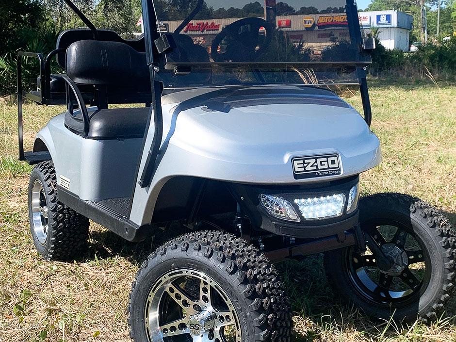 Budget Golf Carts Yulee Florida Silver 2017 EZGO TXT GAS