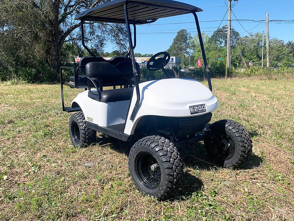Budget Golf Carts Yulee Florida White 2017 EZGO TXT GAS